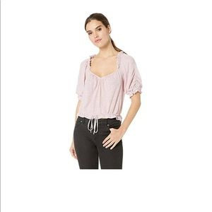 Free People Womens Dorothy Top Pink Small